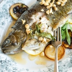 Rainbow Trout with Tarragon and Hazelnut Brown Butter