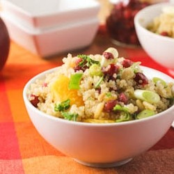 range Quinoa Salad with Pomegranate Seeds Recipe