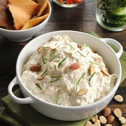 Roasted Garlic Almond Dip Recipe