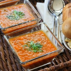 Roasted Tomato soup with Basil Recipe