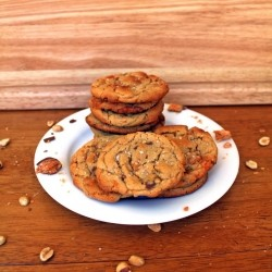 Salted Butterfinger Peanut Butter Cookies Recipe