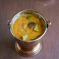 South Indian Sambar with Brinjal