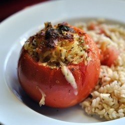 Spicy Stuffed Tomatoes with Mozzarella and Jalapeno