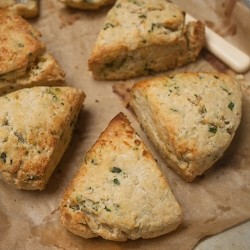 Wild Garlic Lancashire Cheese Scones
