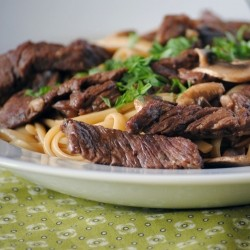 Beef Linguine in Sauce recipe