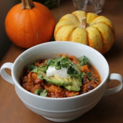 Black Beans Butternut Squash Chili