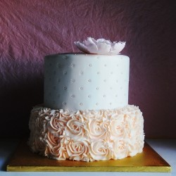 Buttercream Rose Chocolate Wedding Cake Recipe