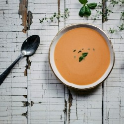 Chilled Tomato Peach Soup Recipe