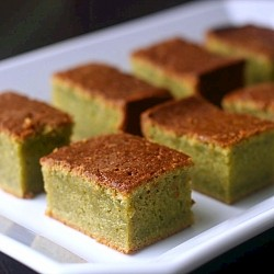 Matcha Green Tea Mochi Cake