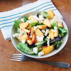 Peach Chevre Salad Recipe