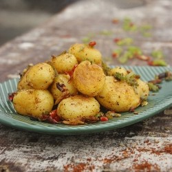 Potato Pieces with Cumin and Spiced Salt Recipe