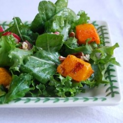 Roast Butternut Squash and Pecan Salad