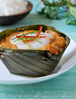 Thai Curried Fish Custard Recipe