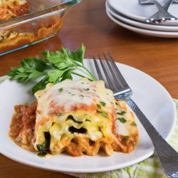 Mushroom and Spinach Lasagna Roll Ups Recipe