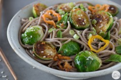 Brussels Sprouts with Lemongrass Honey and Mint Recipe