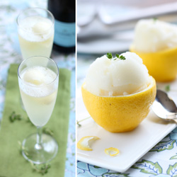 Prosecco with Lemon Thyme Sorbet.