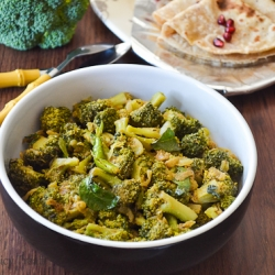 Broccoli Coconut Dry Curry