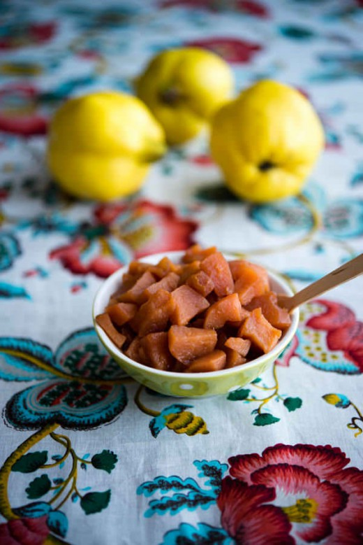 Moscato Stewed Quinces