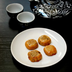 Chinese Red Bean Moon Cakes