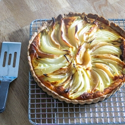 Goat Cheese and Roasted Onion Tart Recipe