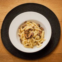 Pasta with Mushrooms and Truffle