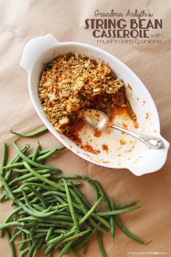 String Bean Casserole with Mushrooms and Tomatoes Recipe