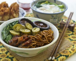 Wonton Noodles with Soy Dressing Recipe