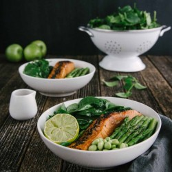 Salmon and Soy Bean Salad