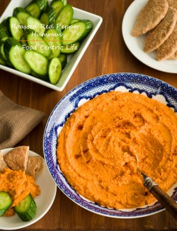 Roasted Red pepper and Parmesan Hummus Recipe