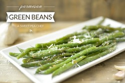 Possibly my favorite side ever: delicious and healthy Garlic Parmesan Green Beans