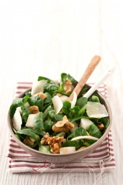 Pear Walnut Salad with Parmigiano Reggiano