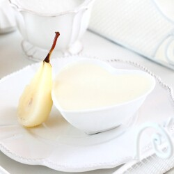 Ricotta Mousse with Poached Pears Recipe